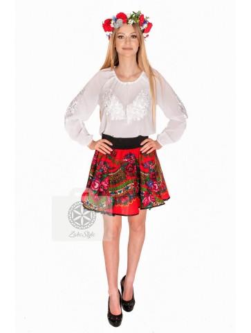 bluzka folk biała z białym