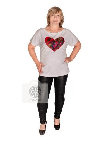 Bluzka cleo serce, 100% bawełna ludowa