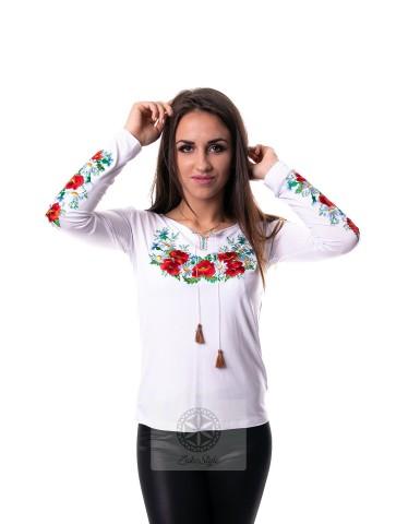 bluzka folkowa kwiecista