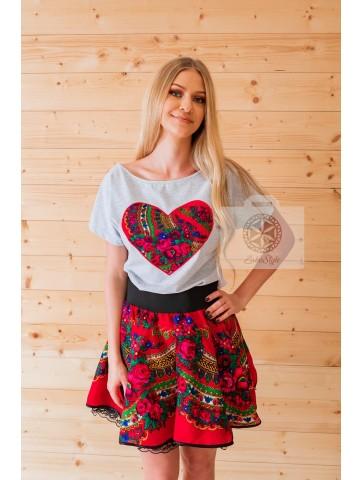 Czerwona spódnica słowianki Cleo