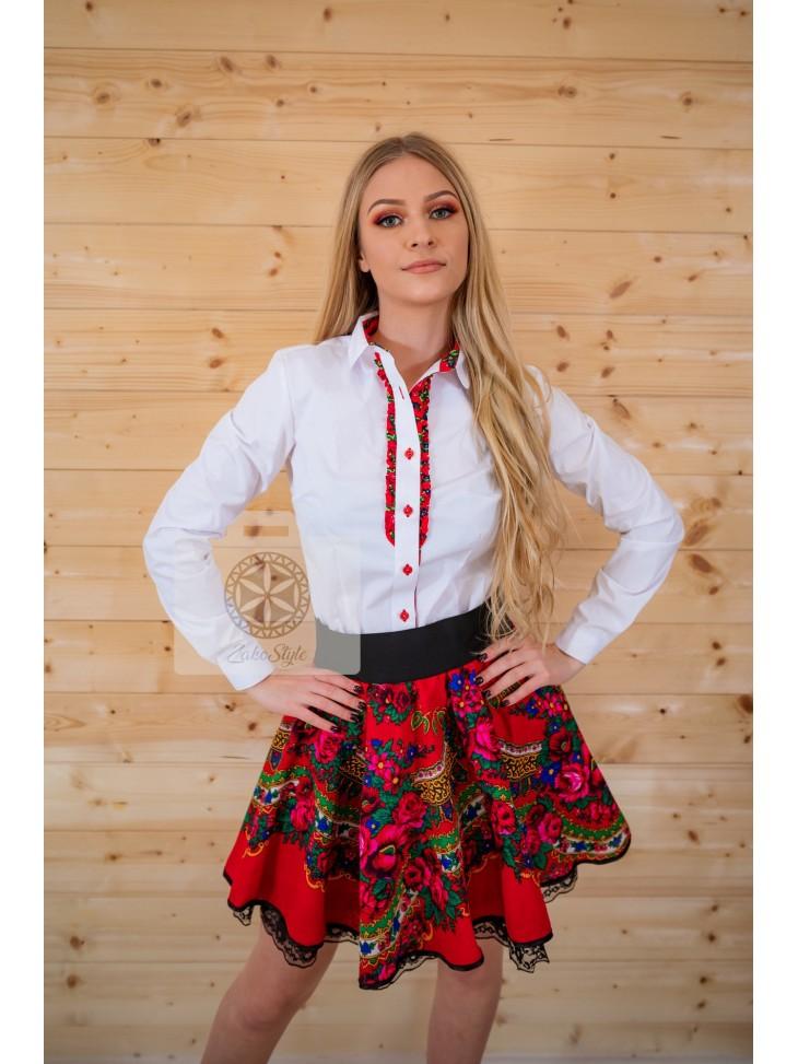 Czerwona spódnica góralska
