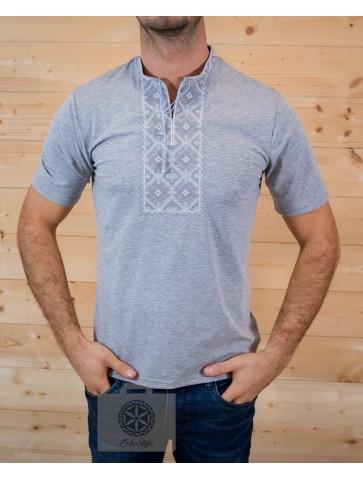 Koszulka polówka szara