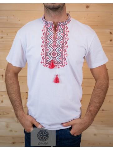 Koszulka polówka czerwony haft