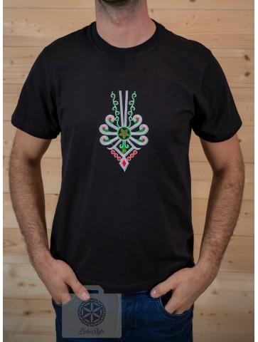 Koszulka czarna z parzenicą