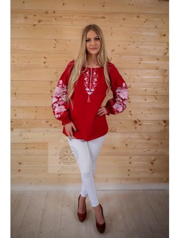 bluzka folkowa różowe róże
