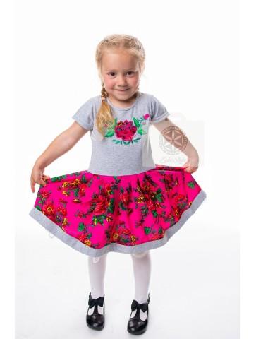 Sukienka szaro różowa...