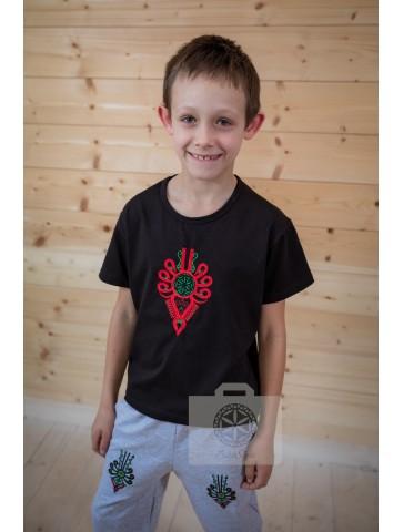Koszulka czarna parzenica dziecko
