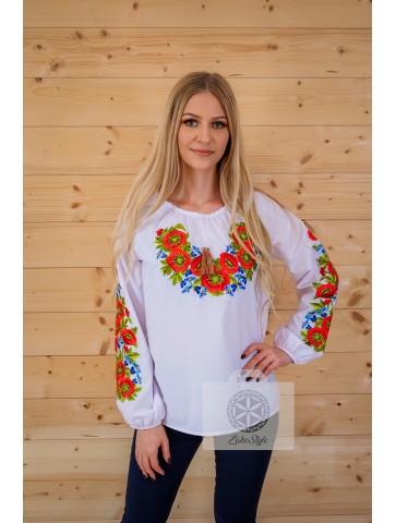 bluzka kwiecista haftowana