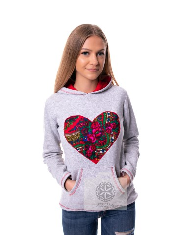 Bluza serce damska