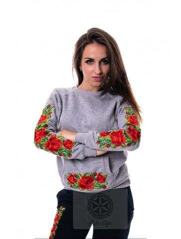 Bluza szara róże