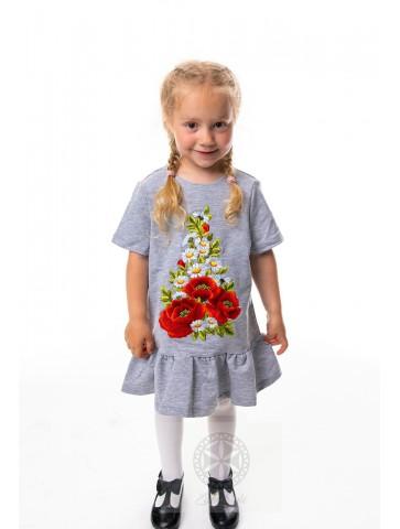 Sukienka haftowana dziecięca