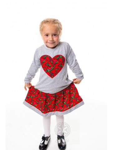 Sukienka serce długi rękaw
