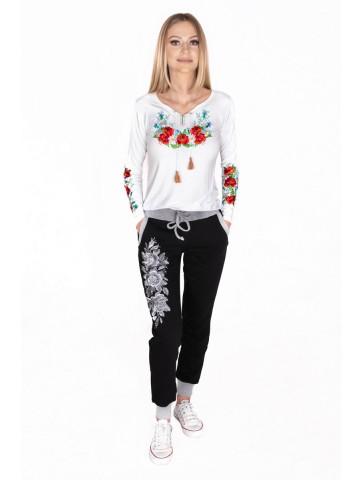 Spodnie damskie haftowane...