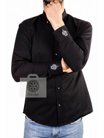 koszula z parzenicami na mankietach