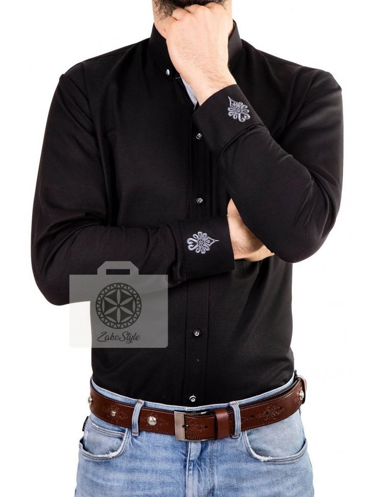 koszula góralska czarna