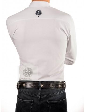 koszula męska z parzenicami na mankietach