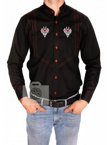 Koszula męska w stylu góralskim , haftowana ludowa